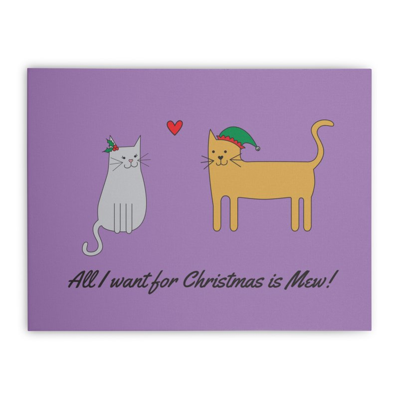All I Want For Christmas Home Stretched Canvas by {mostly} Smiling Sticks