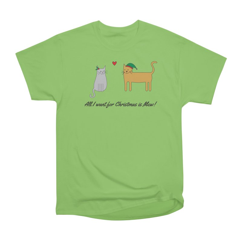All I Want For Christmas Men's Heavyweight T-Shirt by {mostly} Smiling Sticks