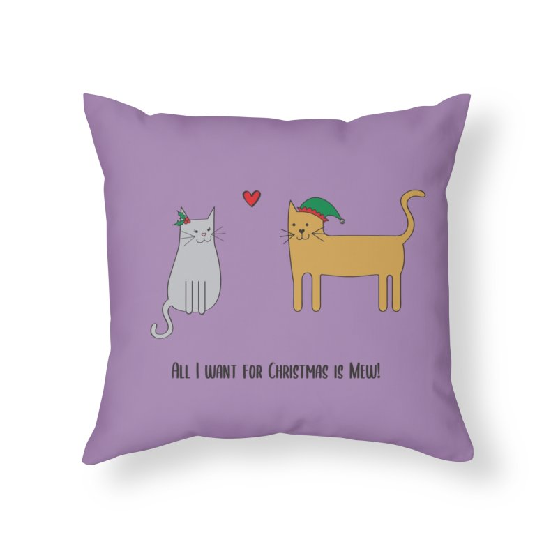All I Want For Christmas Home Throw Pillow by {mostly} Smiling Sticks
