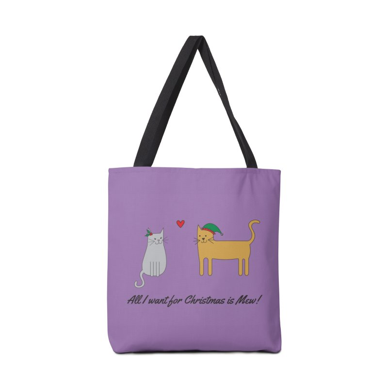 All I Want For Christmas Accessories Tote Bag Bag by {mostly} Smiling Sticks