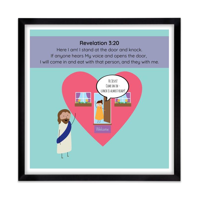 Hi Jesus Home Framed Fine Art Print by {mostly} Smiling Sticks