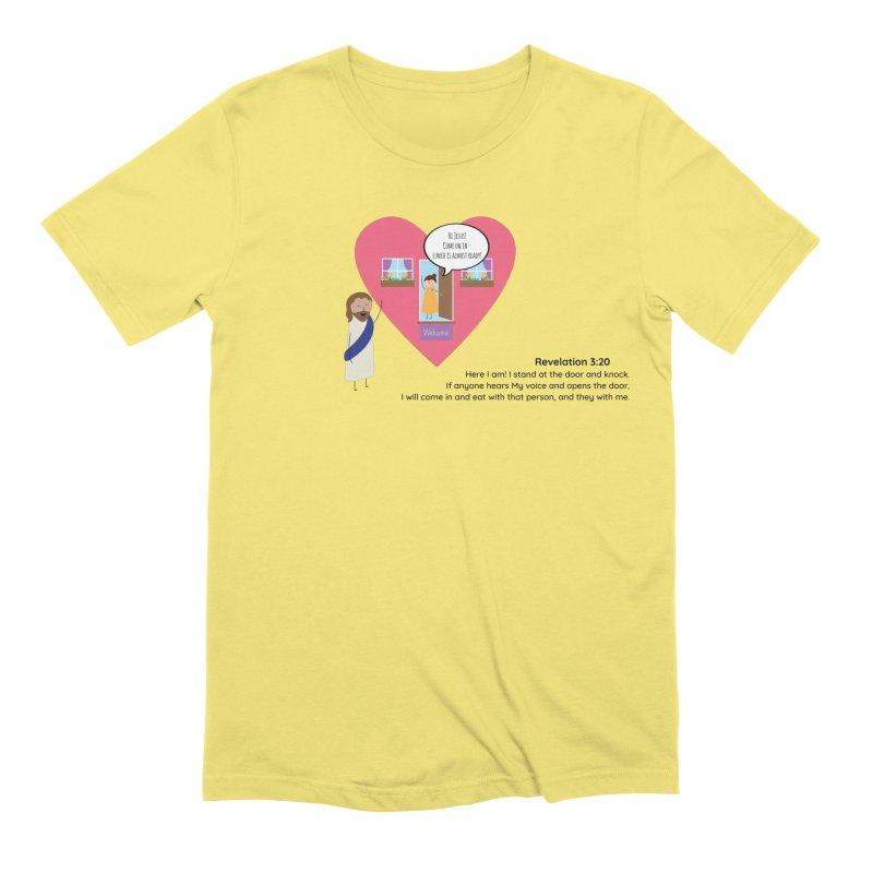 Hi Jesus Men's Extra Soft T-Shirt by {mostly} Smiling Sticks