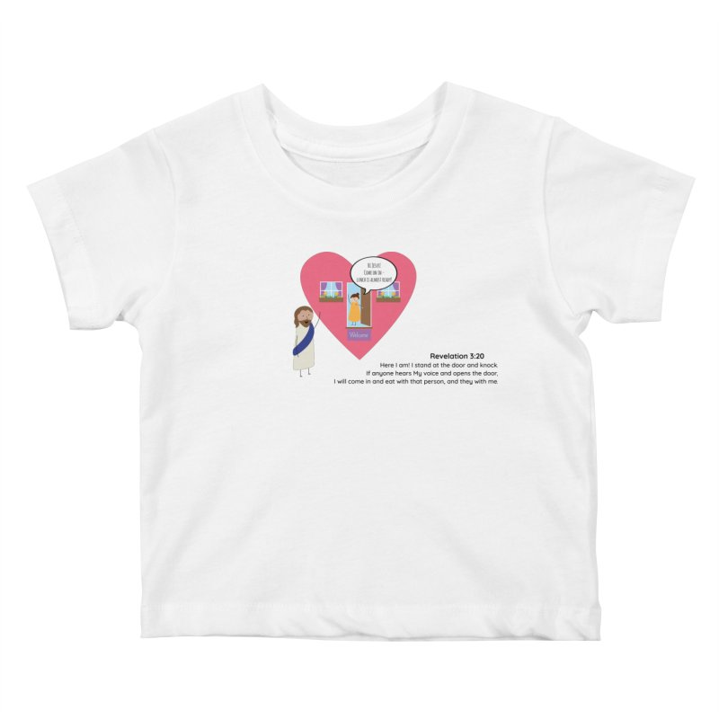 Hi Jesus Kids Baby T-Shirt by {mostly} Smiling Sticks