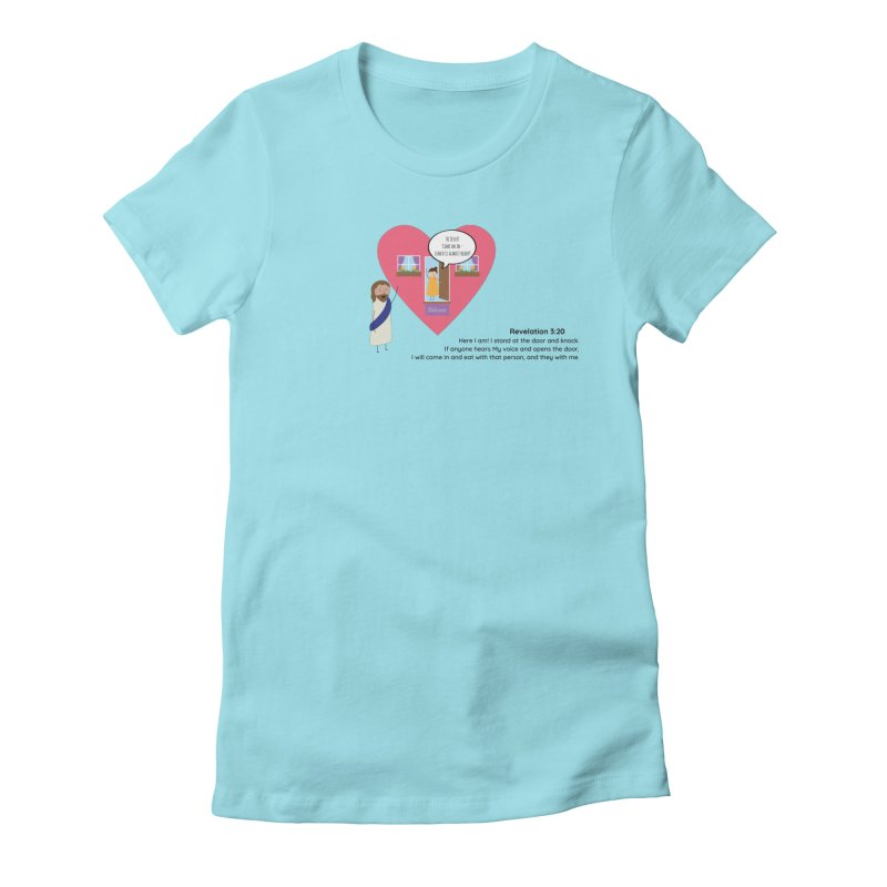 Hi Jesus Women's Fitted T-Shirt by {mostly} Smiling Sticks