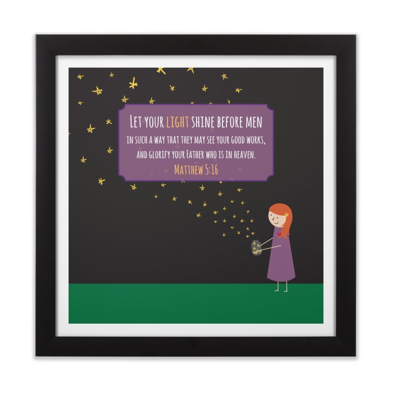 Fireflies Home Framed Fine Art Print by {mostly} Smiling Sticks