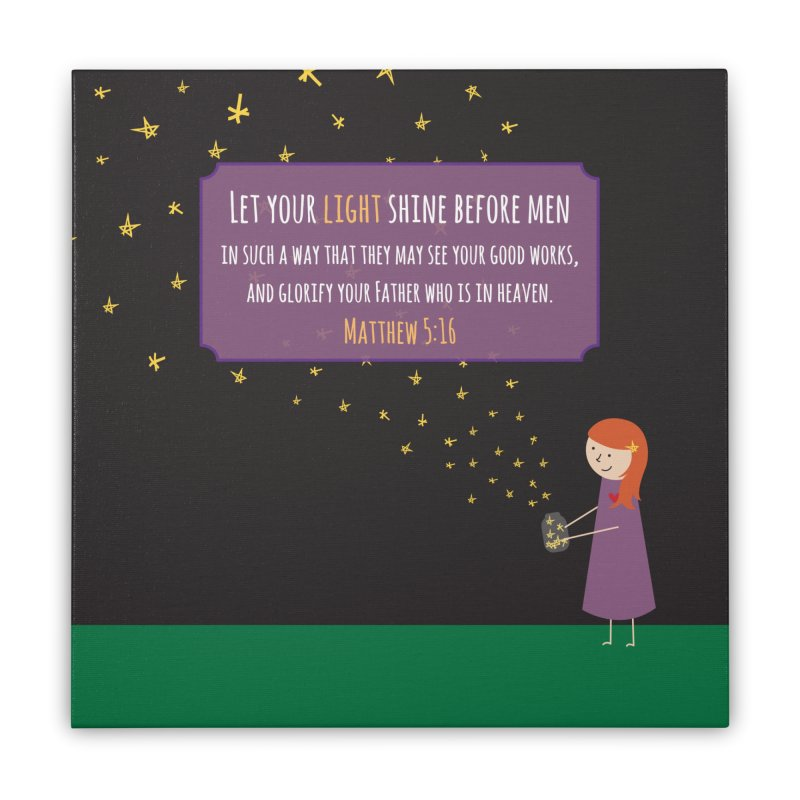 Fireflies Home Stretched Canvas by {mostly} Smiling Sticks