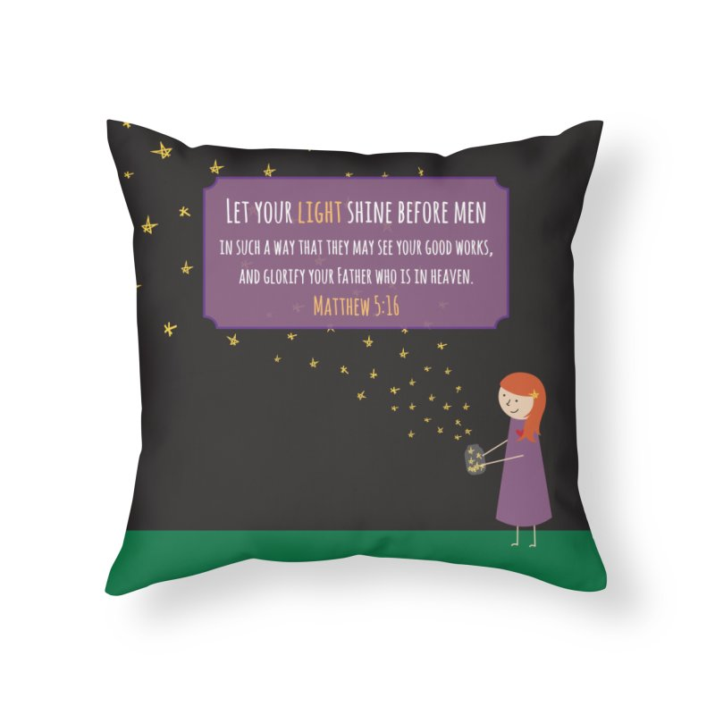 Fireflies Home Throw Pillow by {mostly} Smiling Sticks