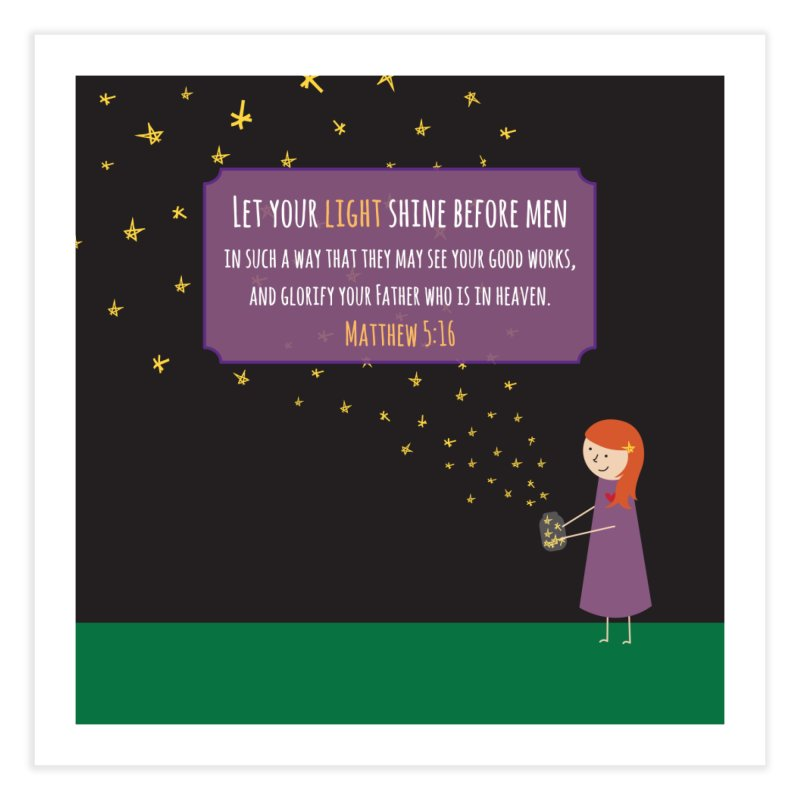 Fireflies Home Fine Art Print by {mostly} Smiling Sticks