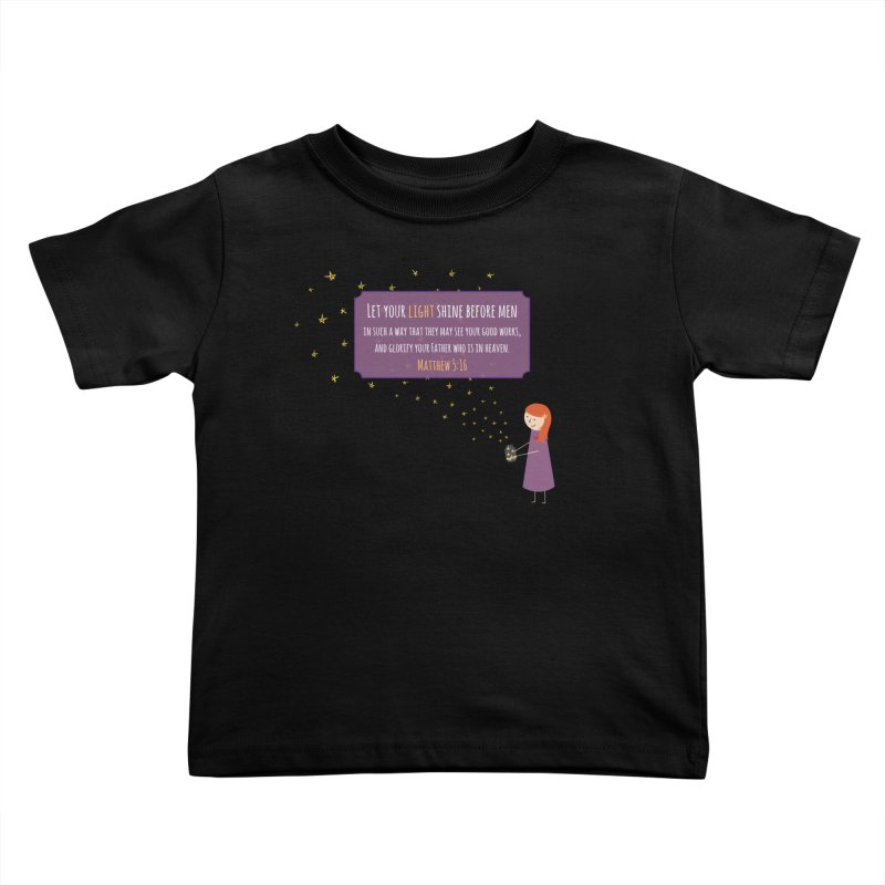 Fireflies Kids Toddler T-Shirt by {mostly} Smiling Sticks