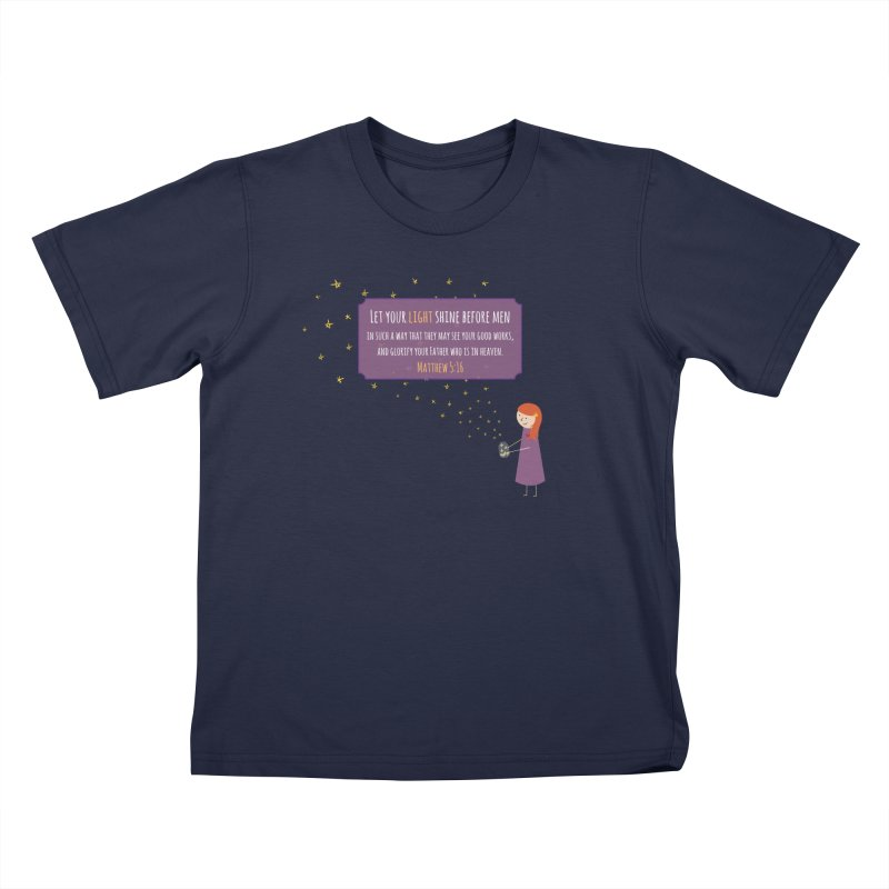 Fireflies Kids T-Shirt by {mostly} Smiling Sticks
