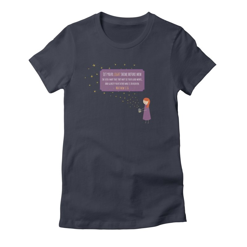 Fireflies Women's Fitted T-Shirt by {mostly} Smiling Sticks