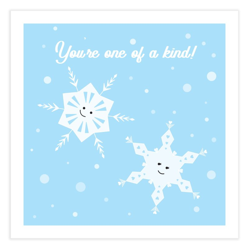 Snowflakes Home Fine Art Print by {mostly} Smiling Sticks
