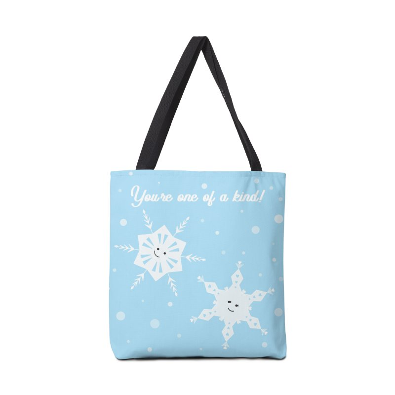 Snowflakes Accessories Tote Bag Bag by {mostly} Smiling Sticks