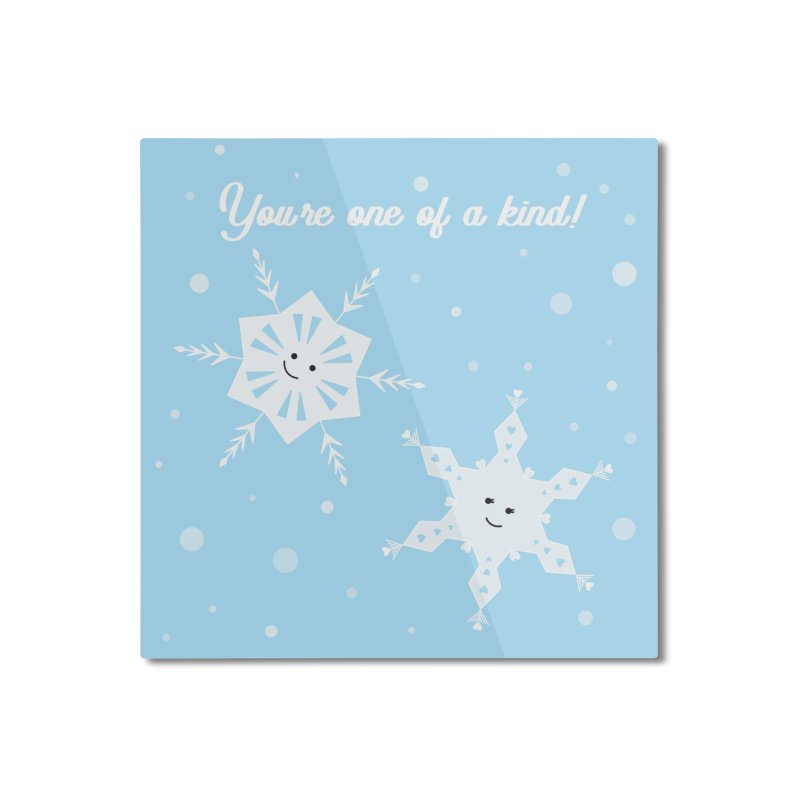 Snowflakes Home Mounted Aluminum Print by {mostly} Smiling Sticks