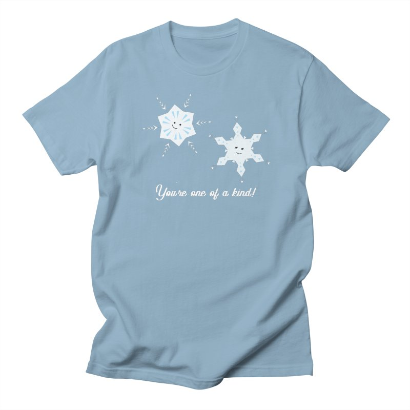 Snowflakes Men's T-Shirt by {mostly} Smiling Sticks