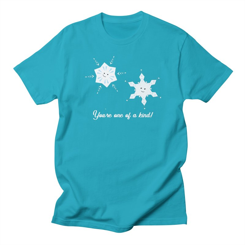 Snowflakes Women's Regular Unisex T-Shirt by {mostly} Smiling Sticks