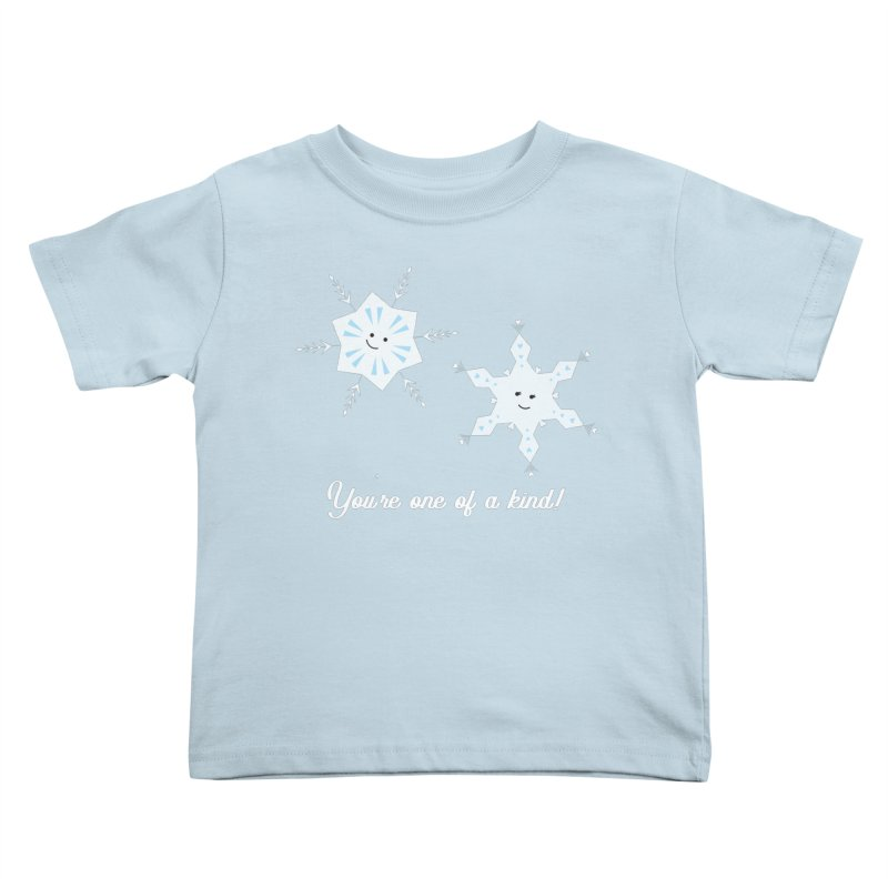 Snowflakes Kids Toddler T-Shirt by {mostly} Smiling Sticks