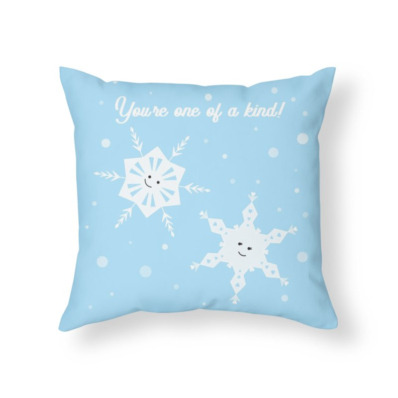 Snowflakes Home Throw Pillow by {mostly} Smiling Sticks