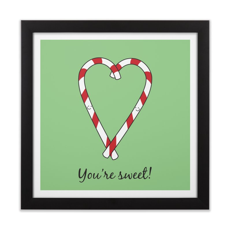 Candy Canes Home Framed Fine Art Print by {mostly} Smiling Sticks