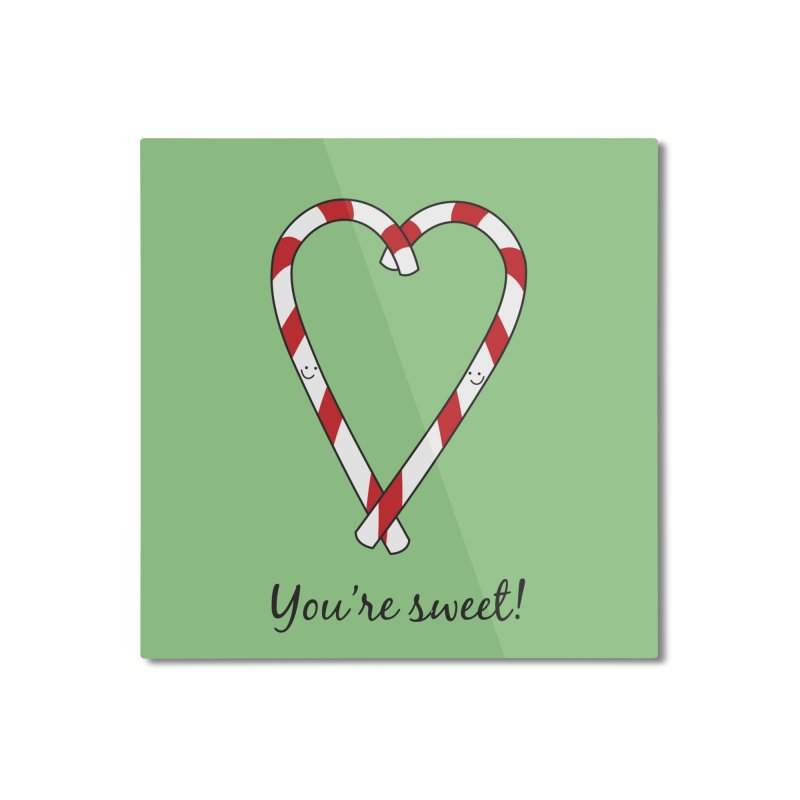 Candy Canes Home Mounted Aluminum Print by {mostly} Smiling Sticks