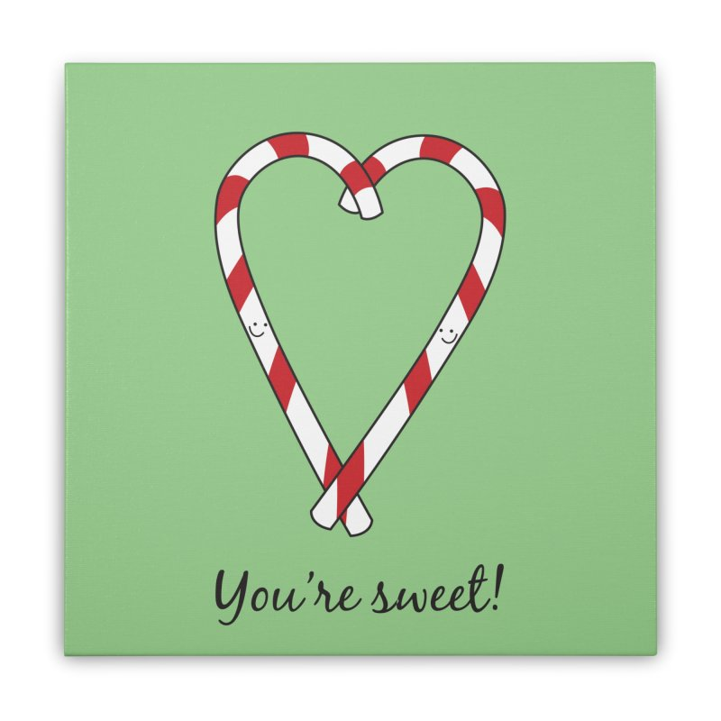 Candy Canes Home Stretched Canvas by {mostly} Smiling Sticks