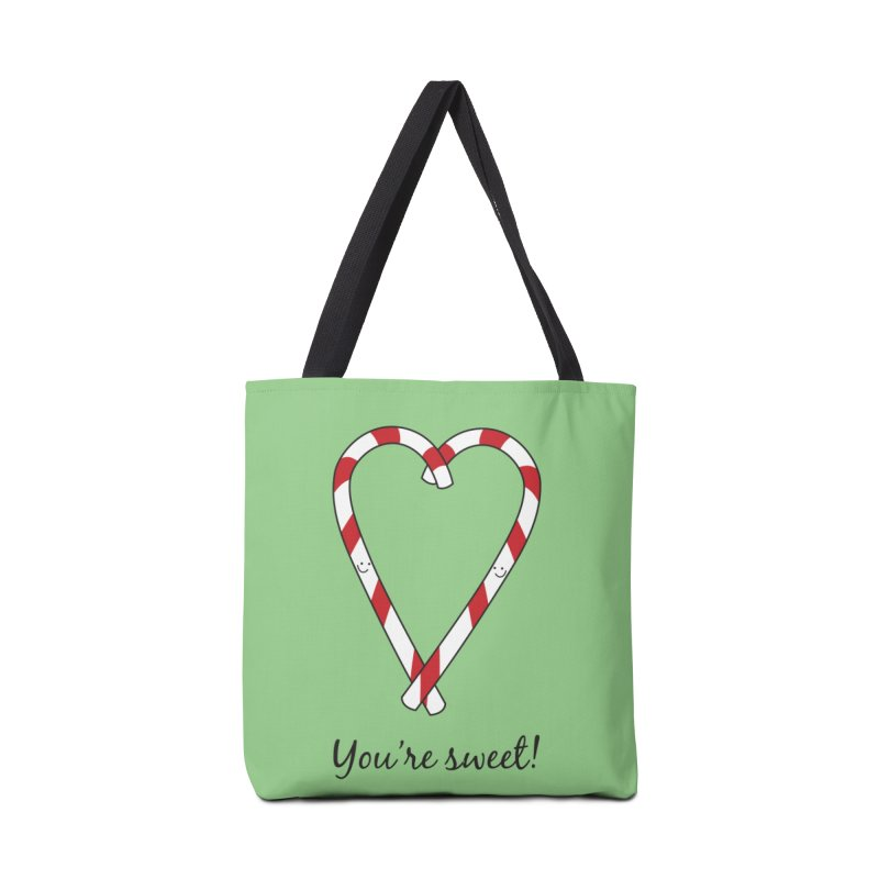 Candy Canes Accessories Tote Bag Bag by {mostly} Smiling Sticks
