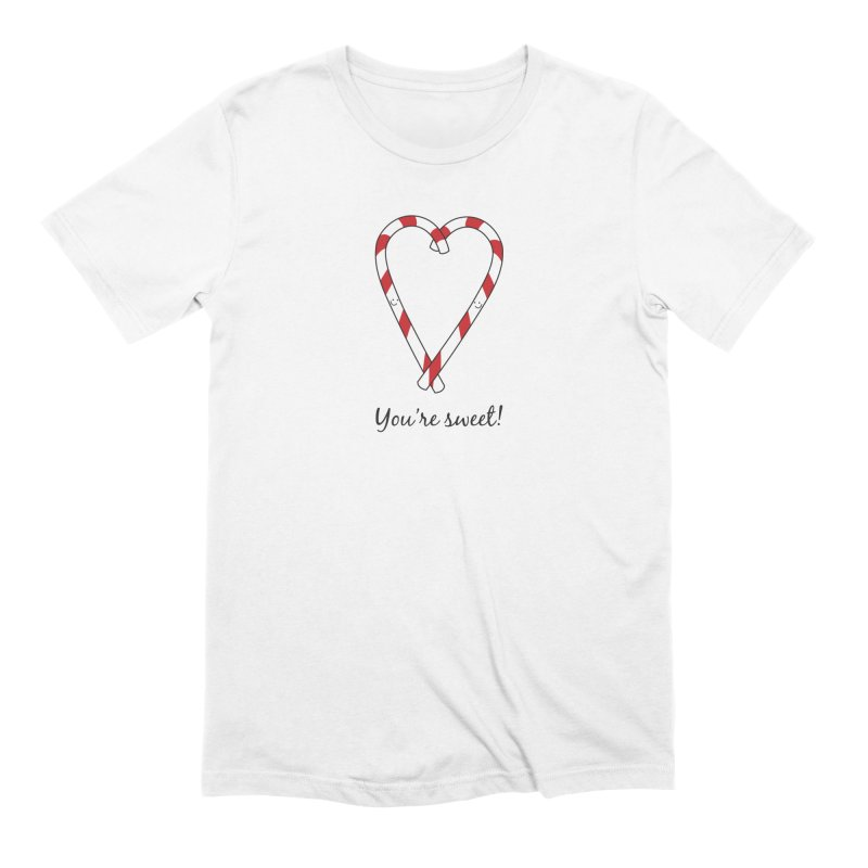Candy Canes Men's Extra Soft T-Shirt by {mostly} Smiling Sticks