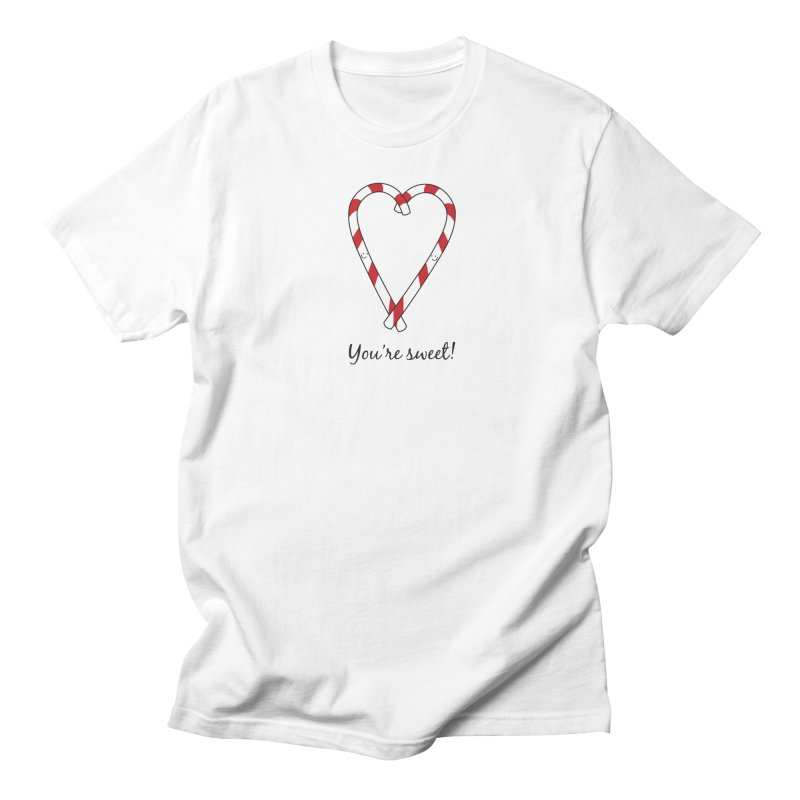 Candy Canes Men's T-Shirt by {mostly} Smiling Sticks