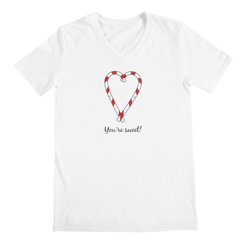 Candy Canes Men's Regular V-Neck by {mostly} Smiling Sticks