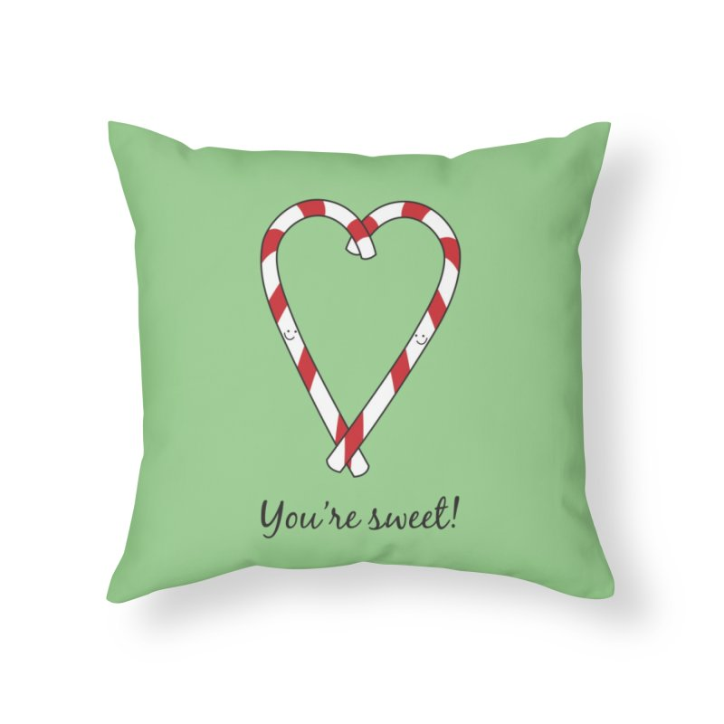 Candy Canes Home Throw Pillow by {mostly} Smiling Sticks
