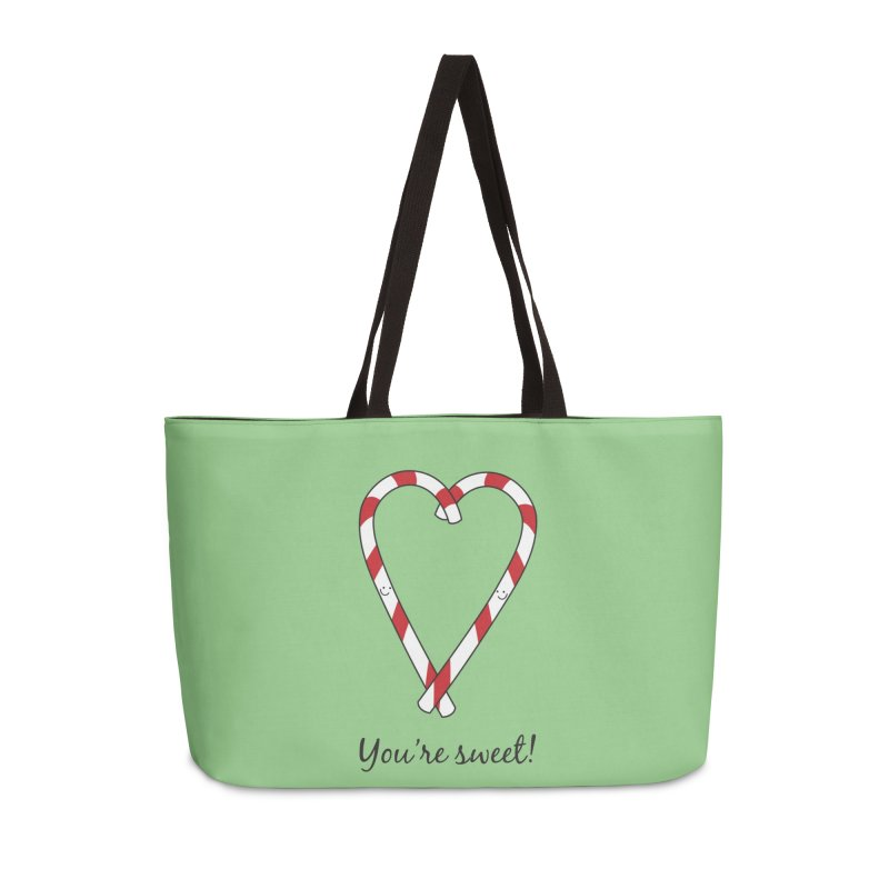 Candy Canes Accessories Weekender Bag Bag by {mostly} Smiling Sticks