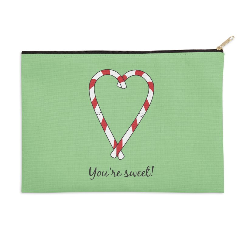 Candy Canes Accessories Zip Pouch by {mostly} Smiling Sticks