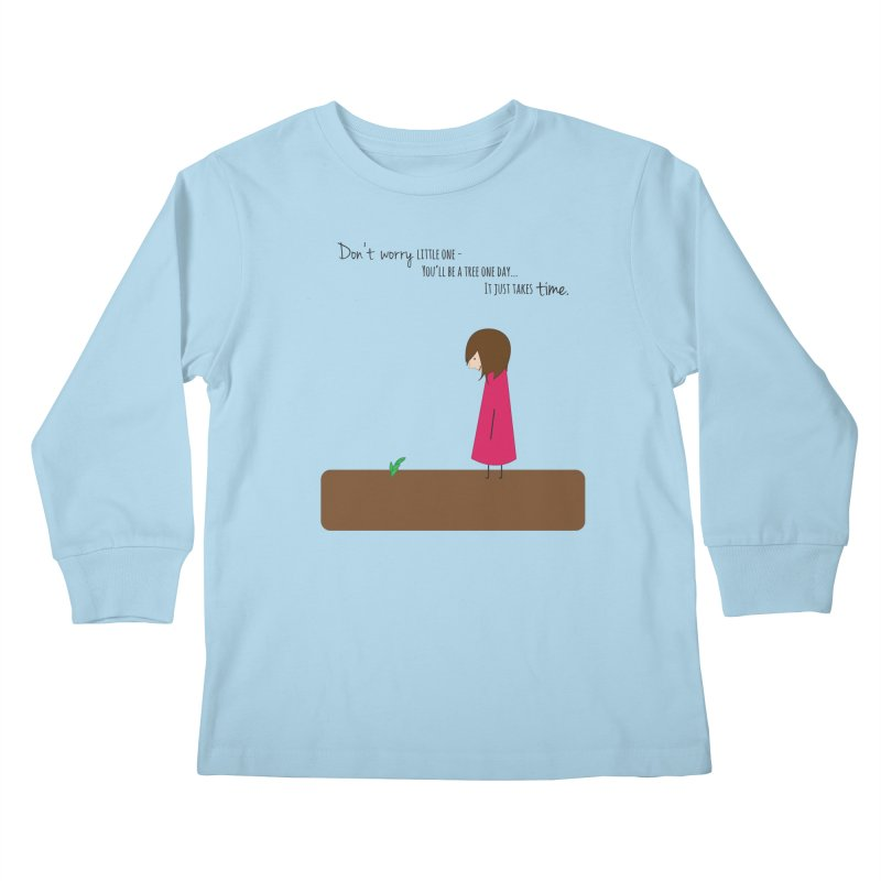 Encourage One Another Kids Longsleeve T-Shirt by {mostly} Smiling Sticks