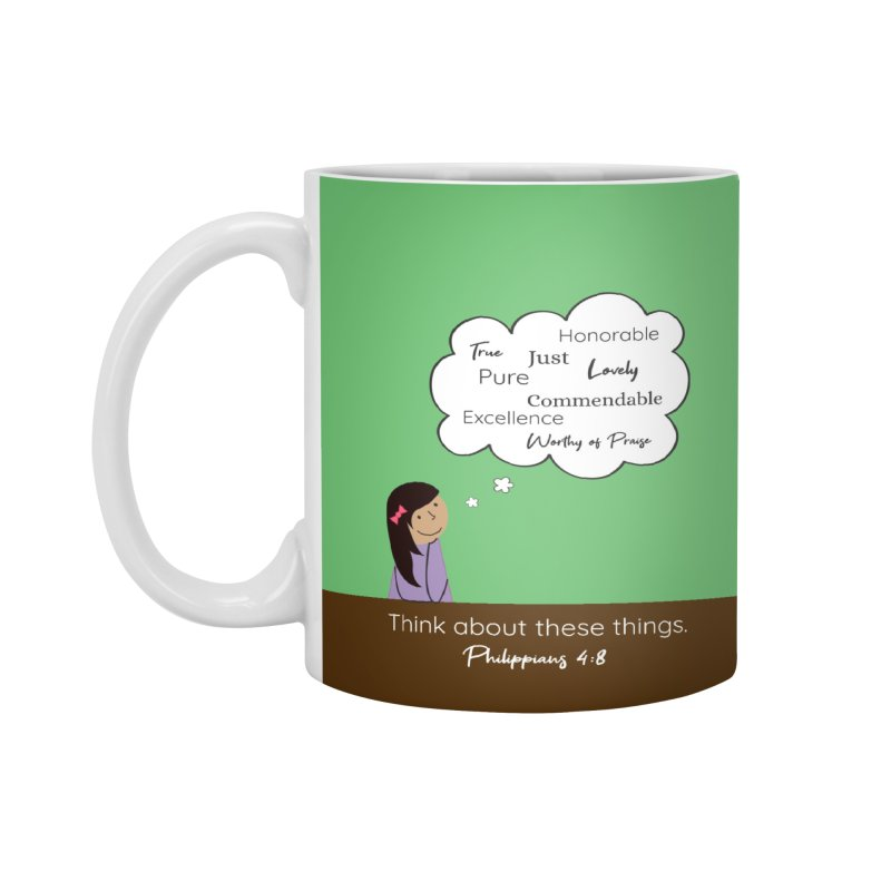 Think About These Things Accessories Mug by {mostly} Smiling Sticks