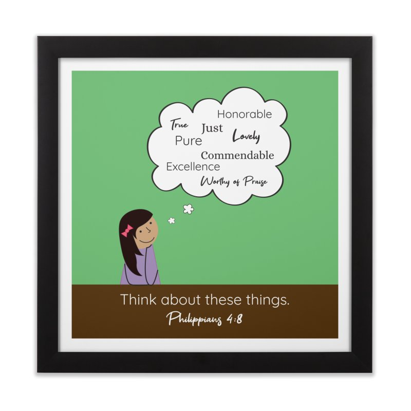 Think About These Things Home Framed Fine Art Print by {mostly} Smiling Sticks