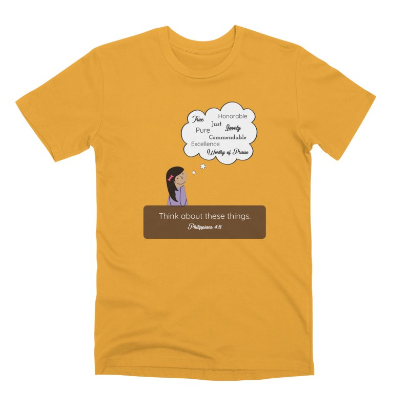 Think About These Things Men's Premium T-Shirt by {mostly} Smiling Sticks