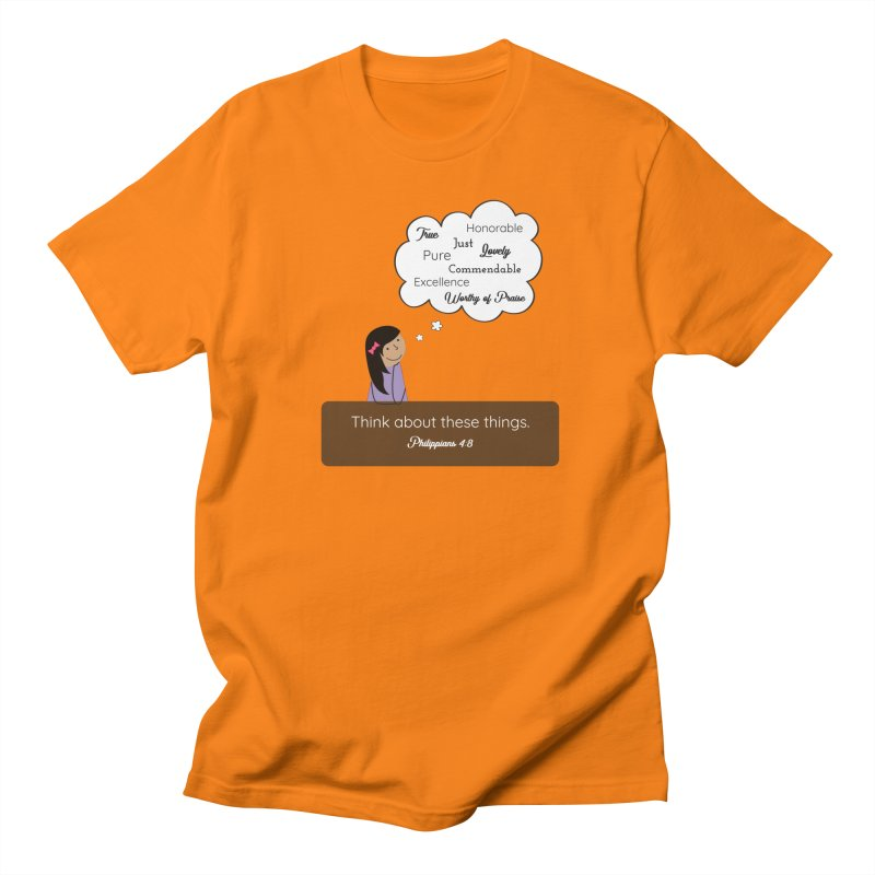 Think About These Things Men's T-Shirt by {mostly} Smiling Sticks