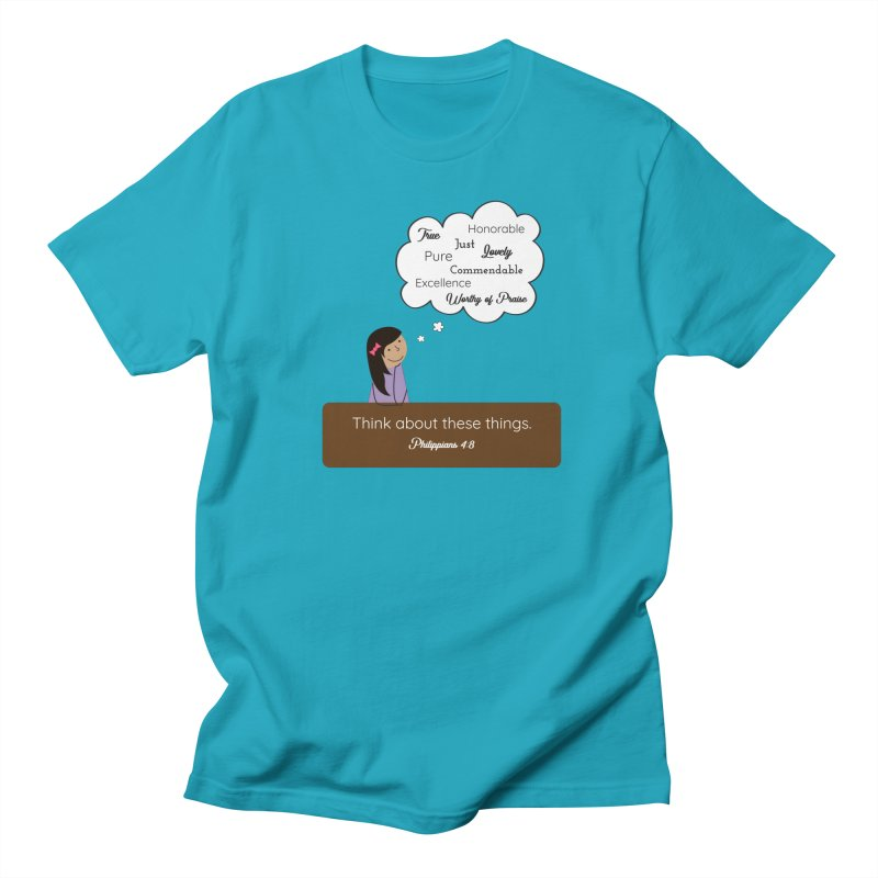 Think About These Things Women's Regular Unisex T-Shirt by {mostly} Smiling Sticks