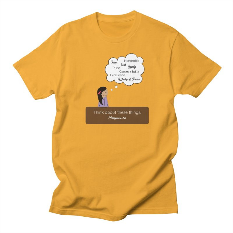 Think About These Things Men's Regular T-Shirt by {mostly} Smiling Sticks