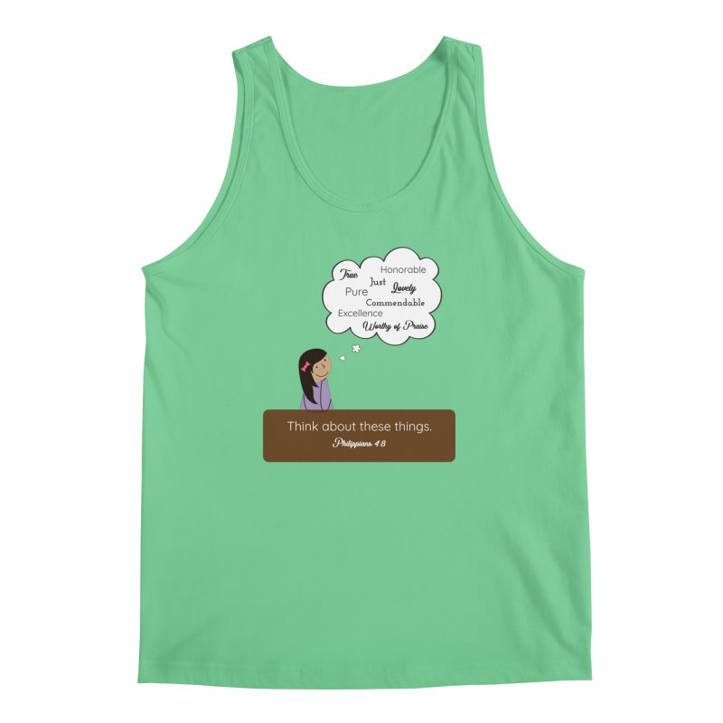 Think About These Things Men's Regular Tank by {mostly} Smiling Sticks