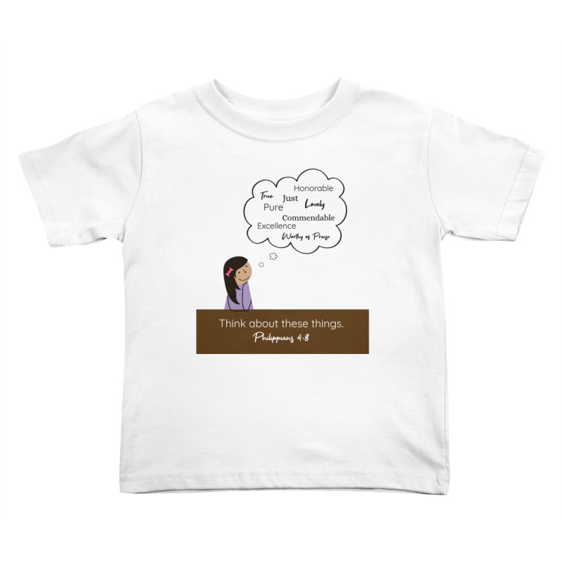 Think About These Things Kids Toddler T-Shirt by {mostly} Smiling Sticks