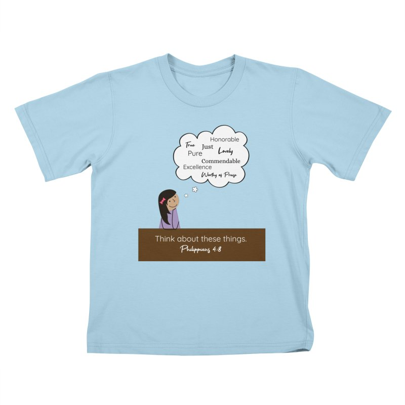 Think About These Things Kids T-Shirt by {mostly} Smiling Sticks