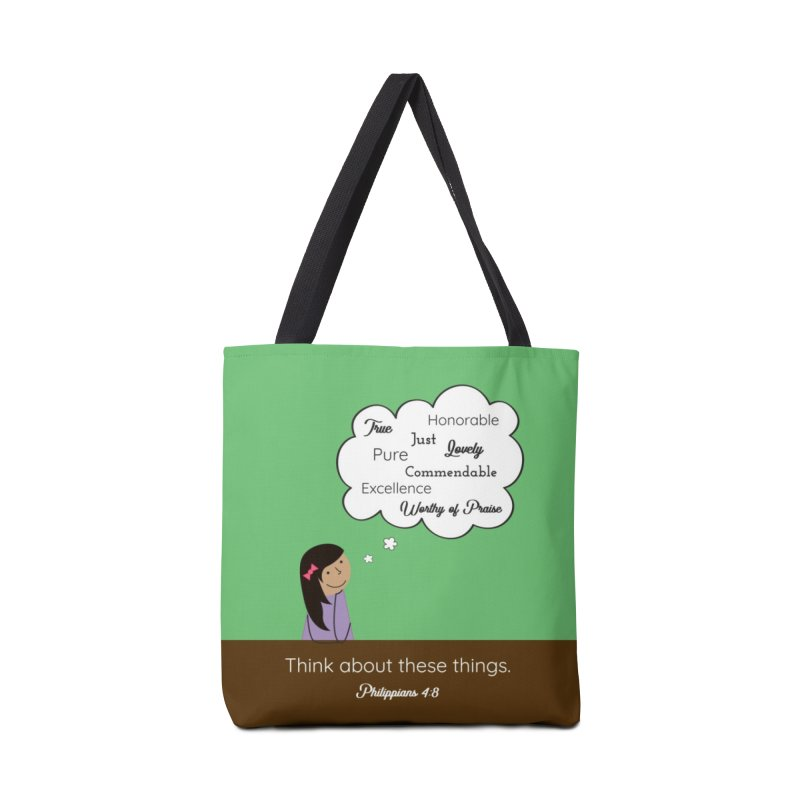 Think About These Things Accessories Tote Bag Bag by {mostly} Smiling Sticks