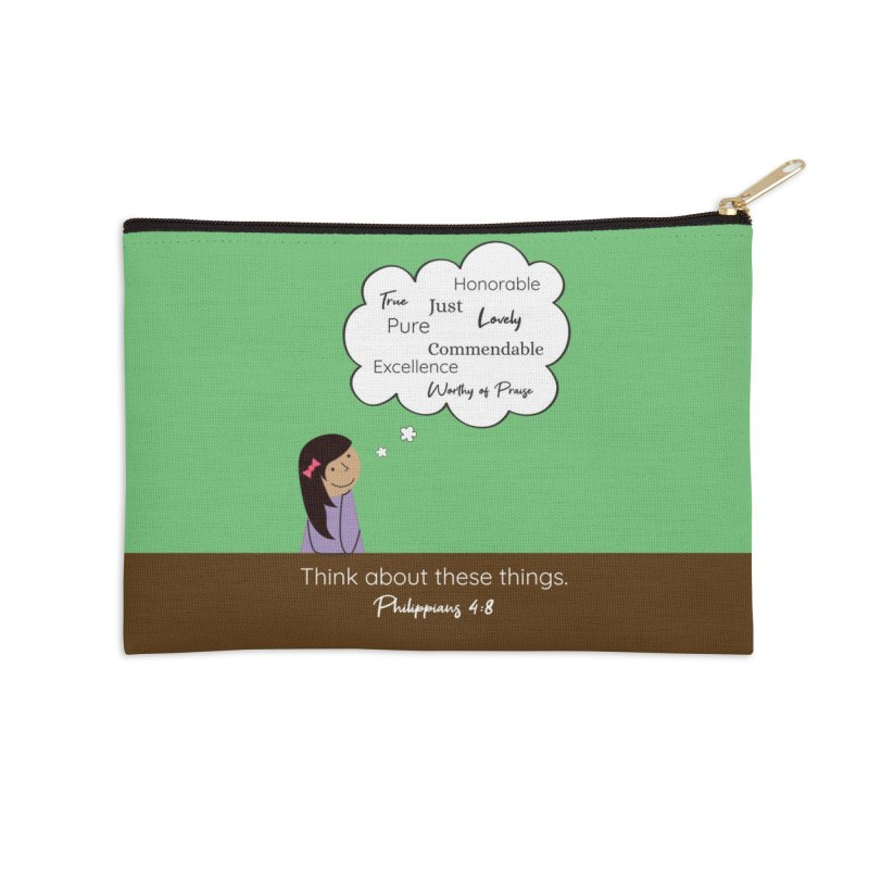 Think About These Things Accessories Zip Pouch by {mostly} Smiling Sticks
