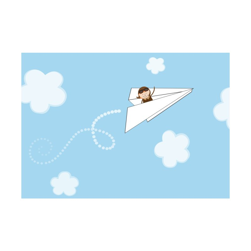 Paper Aeroplane Pilot Home Framed Fine Art Print by {mostly} Smiling Sticks