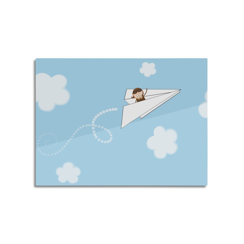 Paper Aeroplane Pilot Home Mounted Aluminum Print by {mostly} Smiling Sticks