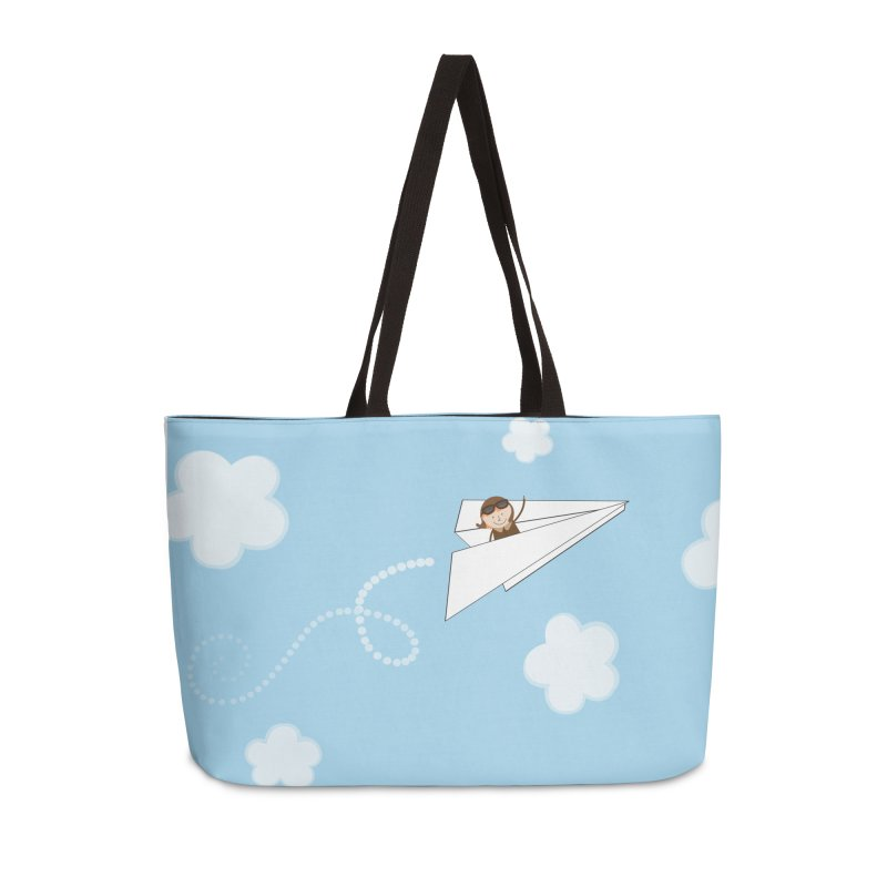 Paper Aeroplane Pilot Accessories Weekender Bag Bag by {mostly} Smiling Sticks