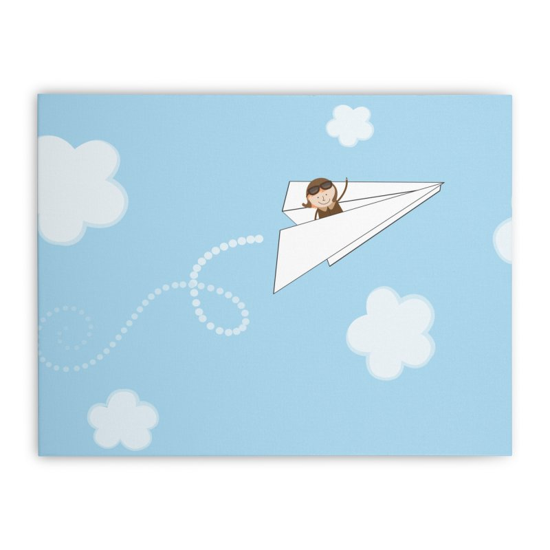 Paper Aeroplane Pilot Home Stretched Canvas by {mostly} Smiling Sticks