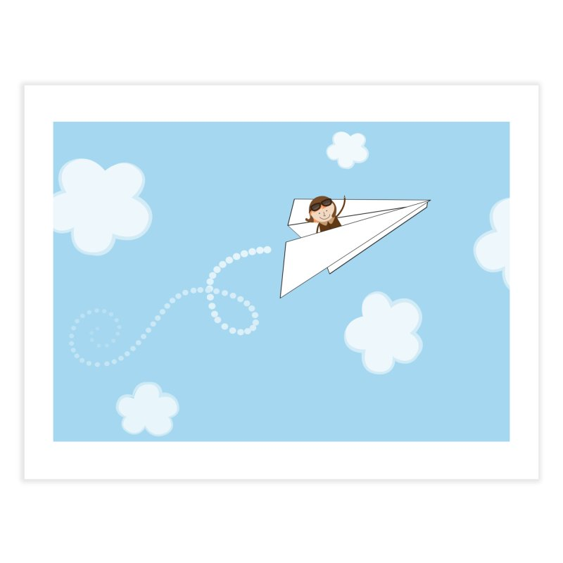 Paper Aeroplane Pilot Home Fine Art Print by {mostly} Smiling Sticks
