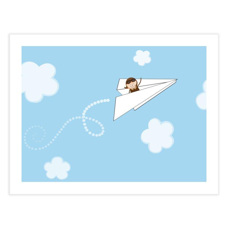 Paper Aeroplane Pilot Home Fine Art Print by {mostly} Smiling Sticks